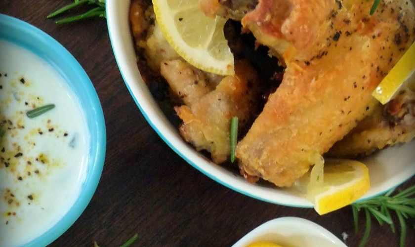 Baked Lemon & Pepper Wings with Rosemary #Diy
