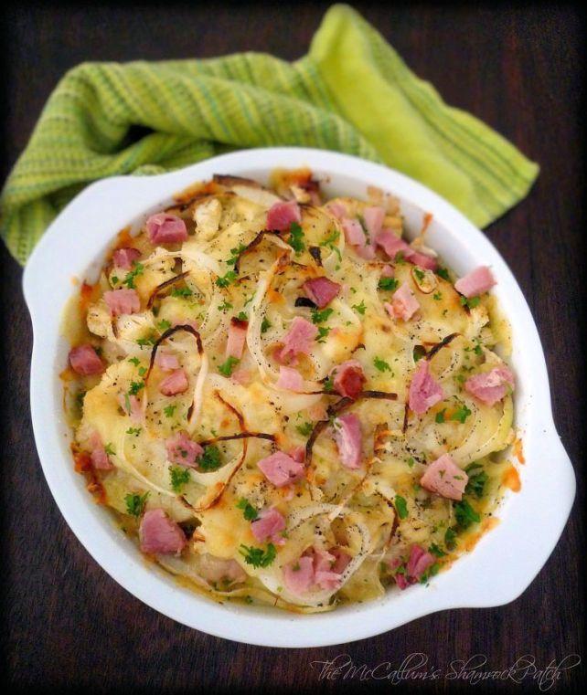 Cauliflower Au Gratin with Ham