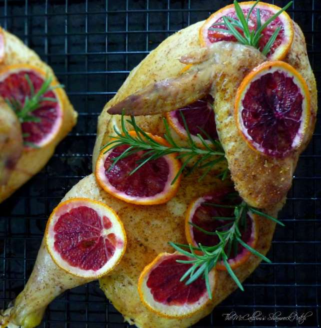 How-to Cut & Make Roasted Chicken + Recipe Roasted Chicken with Citrus and Rosemary for delicious tasting chicken every time.