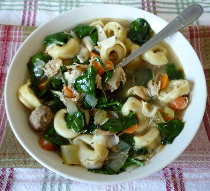 Italian Spinach and Pasta Soup