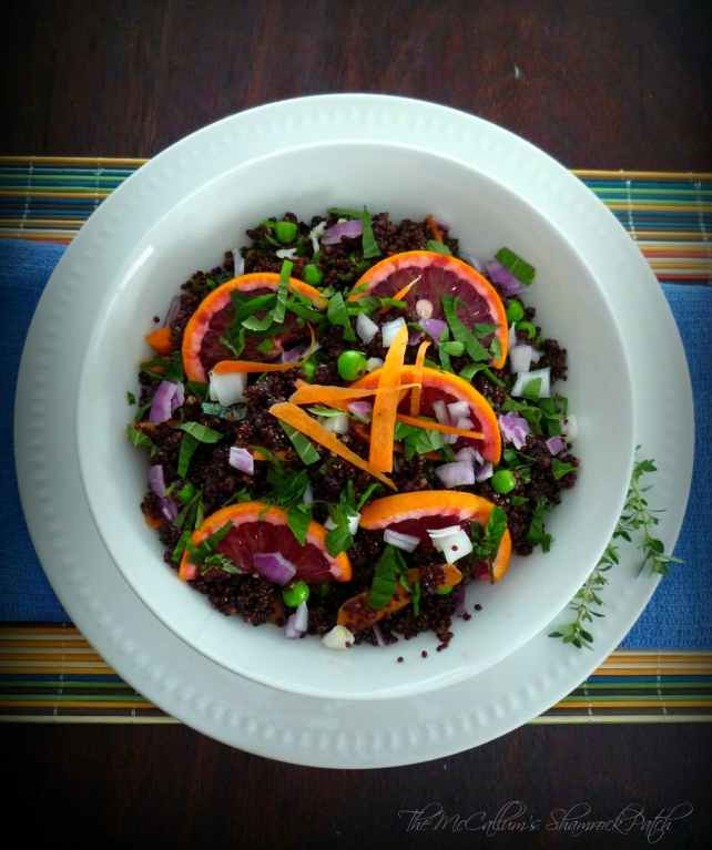 Red Quinoa & Citrus Salad