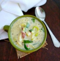 Leek & Potato Soup- leek agus prátaí anraith; is such a wonderful traditional Irish food and the perfect luncheon item to roll out in celebration of the beloved St. Patrick combining fresh leeks with potatoes, shallots, Traditional Irish Style boiling bacon, heavy cream and perfectly seasoned in a simple timeless manner.
