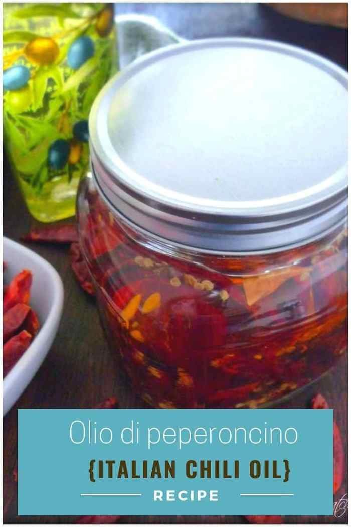 Olio di peperoncino consists of 2 simple ingredients, pure top-quality authentic olive oil, and dried chili peppers. It's delicious on pizza, Italian bread, bruschetta, and even pasta dishes.