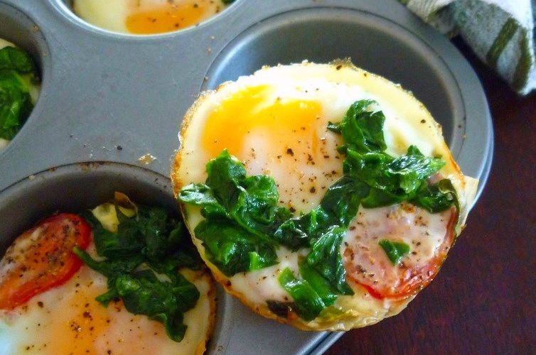 Phyllo Egg Cups with Spinach & White Cheddar