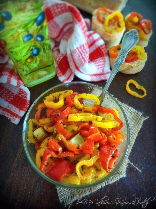 Italian Peppers in Olive Oil