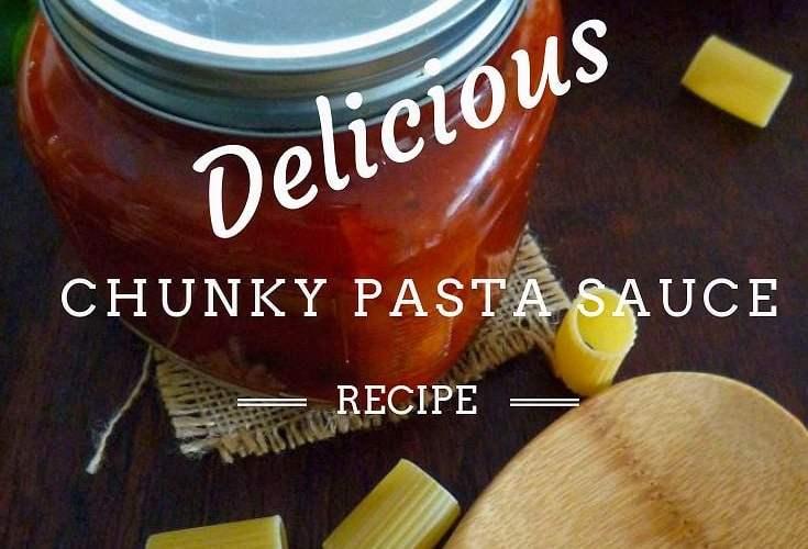 Chunky Pasta Sauce with Mild Sausage