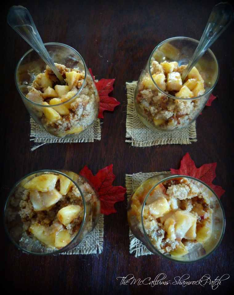 Apple Bourbon Spice Mini Trifles with Caramel
