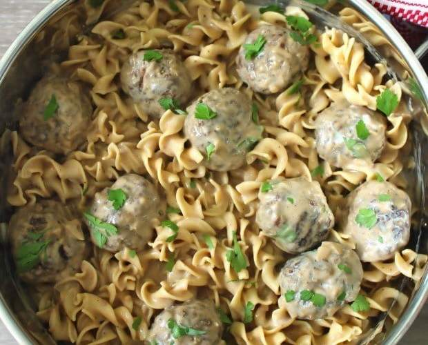 Swedish Meatballs with Egg Noodles
