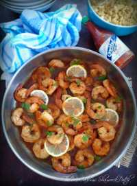 Easy Fiery lemon Shrimp is a delicious recipe that has a perfect bold, buttery, spicy flavor, with a just a hint of lemon flavor; that makes it perfect menu item for over white rice, quinoa, pasta, or even a nice fresh, crusty, french baguette.