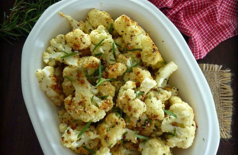 Roasted Cauliflower with Parmesan and Rosemary