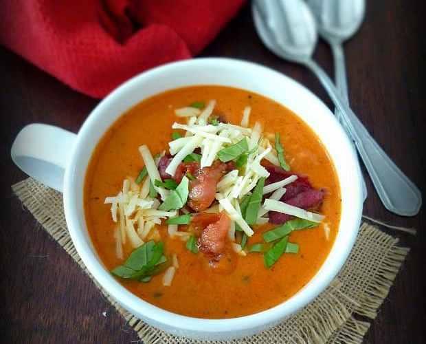 Tomato Basil Soup with Asiago recipe