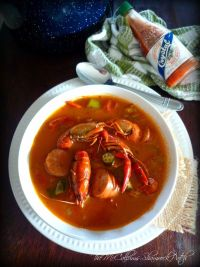 here are many variations of family recipes for Gumbo across the state of Louisiana; my Red Creole Crawfish Gumbo is one of my favorite Gumbos; made with Andouille sausage, Louisiana crawfish, onions, green bell peppers, celery, garlic, fresh okra, and seasoned perfectly with Creole spices.