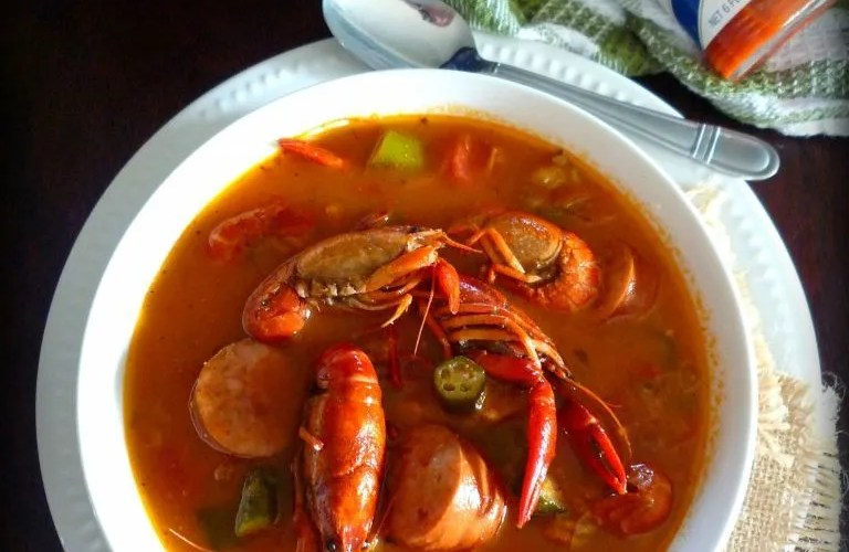 Red Creole Crawfish Gumbo