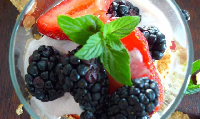 Easy Summer Berry Parfait made with Annie's Organic Whole Milk Yogurt + Giveaway