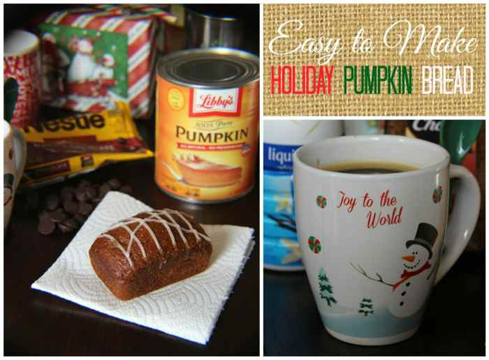 You are going to love this deliciously moist, perfectly spiced Easy to Make Holiday Pumpkin bread. It's perfect for all the Fall and Winter Holidays with melting real butter and a steaming hot cup of coffee with your favorite creamer flavor by the warm fire with friends.