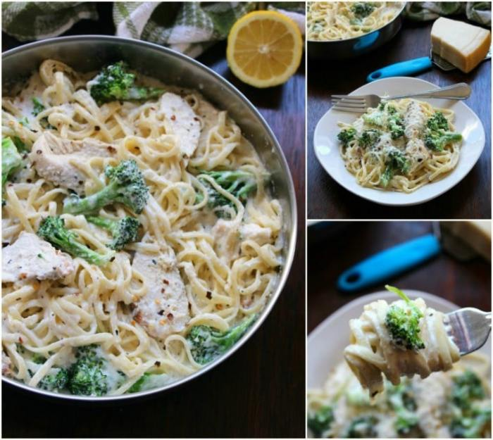 Every busy household should have a delicious go-to recipe for a quick, easy, tasty meal on the weeknight when they are hard pressed for time. My easy go-to meal in our household is my Chicken and Broccoli Alfredo recipe; combined with a rich, thick, creamy homemade Alfredo sauce with grilled chicken and fresh broccoli that has me in and out of the kitchen in no time.