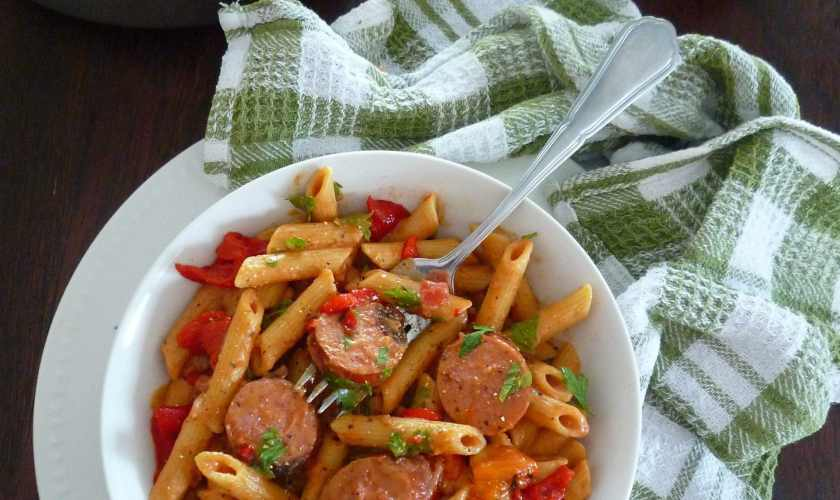 Spicy Penne Pasta with Andouille Sausage