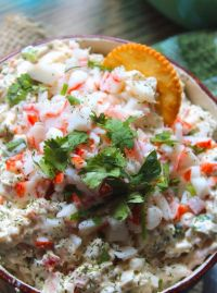 I know many of y' all have had the pleasure of tasting a hot crab dip, but if you haven't had a cold Southern Creamy Crab Dip you have been missing out on a good thing. This dip is perfect for entertaining during poolside parties, family picnics, and even card night with the besties.