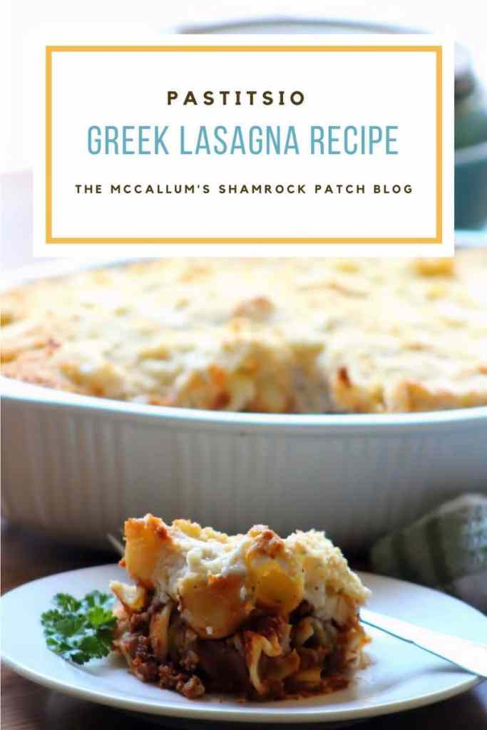 Pastitsio - Greek Lasagna is one of my childhood favorites made with comforting layersof long tubular pasta, a delicious homemade Mediterranean meat sauce spiced with ground cinnamon, allspice, cloves, nutmeg, and topped with creamy béchamel andKefalotyri cheese.