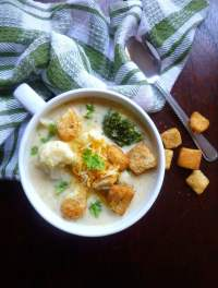 Cauliflower Broccoli Cheese Soup that's simmered to perfection and layered with simple flavors of Cauliflower, broccoli, onions, celery, carrots, chicken stock, cream, butter and the perfect cheesy goodness we all love