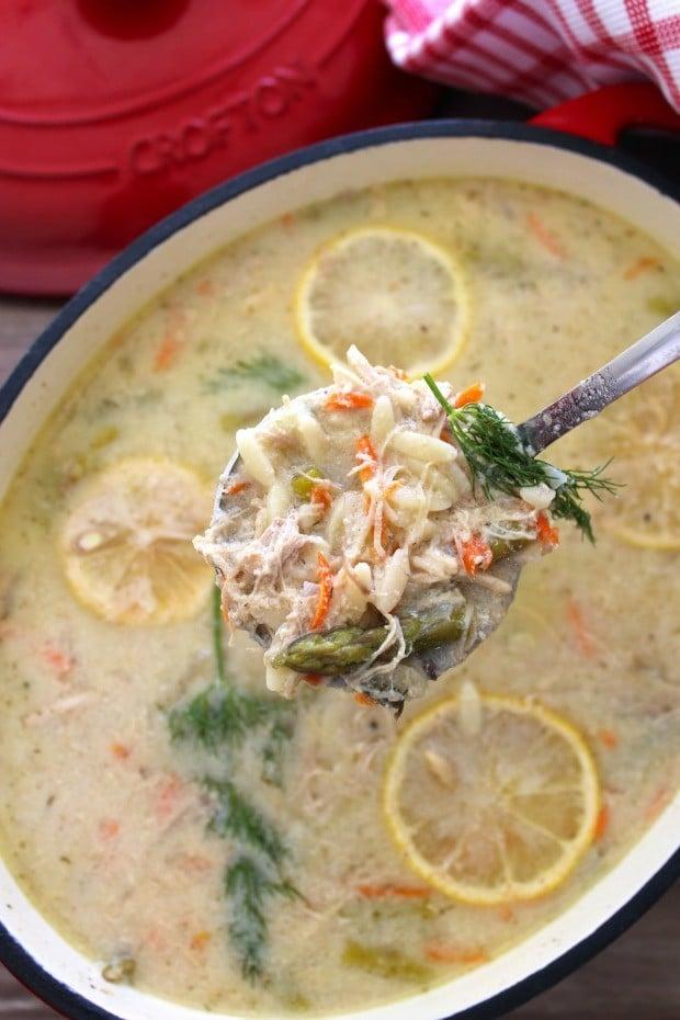 Avgolemono-Greek Lemon and Egg Soup with Orzo
