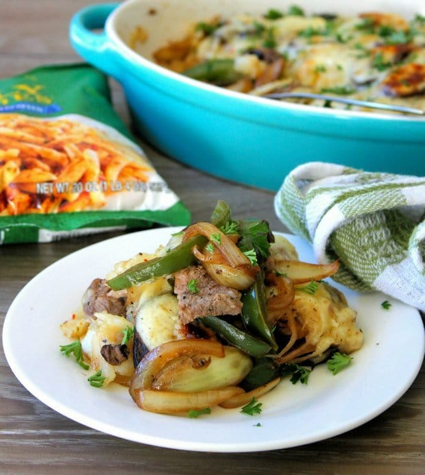 Hashbrown and Cheese Steak Casserole #AD