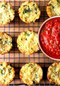Crispy Cauliflower Cakes with Marinara Sauce