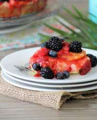 No-Bake Mixed Berry Cheesecake is the easiest, creamiest, delicious cheesecake, the blueberries, blackberries, Cara Cara oranges, and strawberries on top will make it your new favorite go-to recipe for no-bake cheesecake for any occasion you can possibly think of. What's not to love about cheesecake with a berry topping?