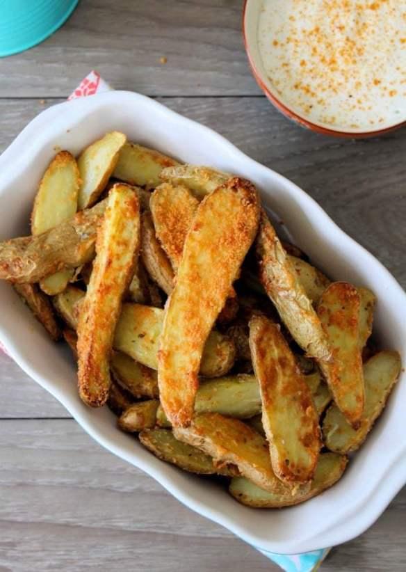Air-fryer Parmesan Fingerling Potatoes