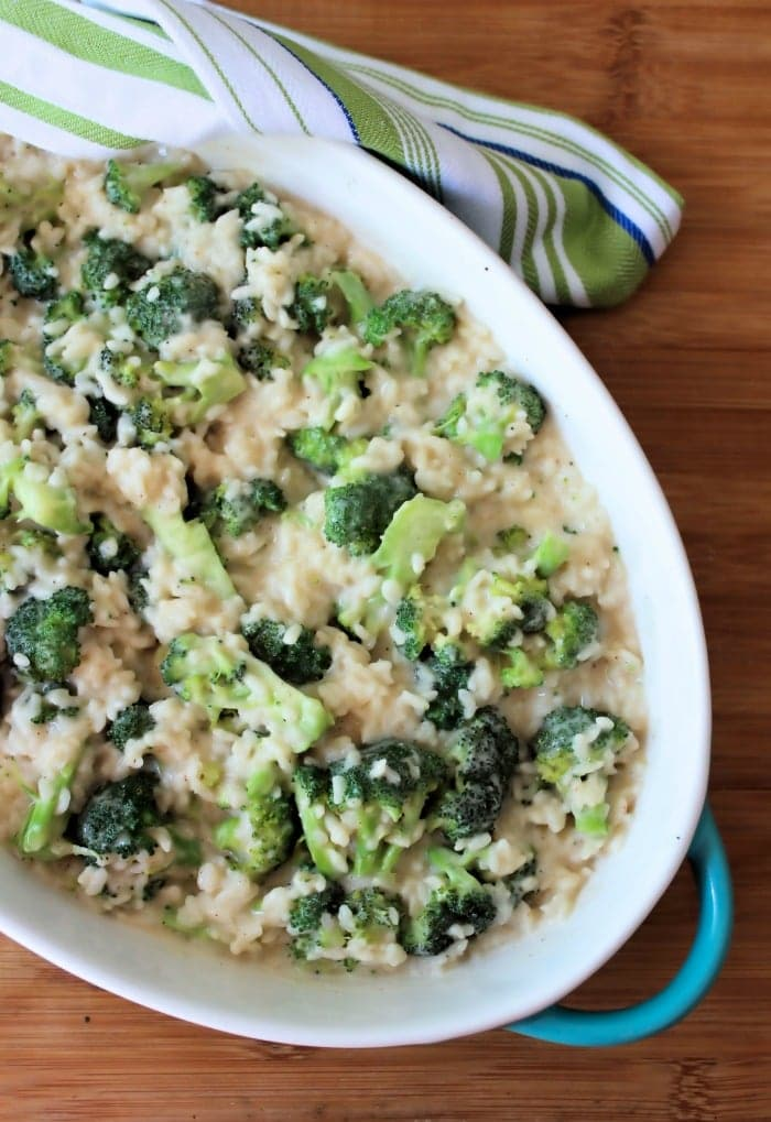 Are you looking for a simple homemade, deliciously creamy, side dish for Broccoli and Rice packed with flavor, that doesn't require a ton of work? Broccoli Alfredo Rice is one of those dishes that fit all those needs and won't heat up the kitchen this summer. It's a perfect side for chicken, fish, or even pork.