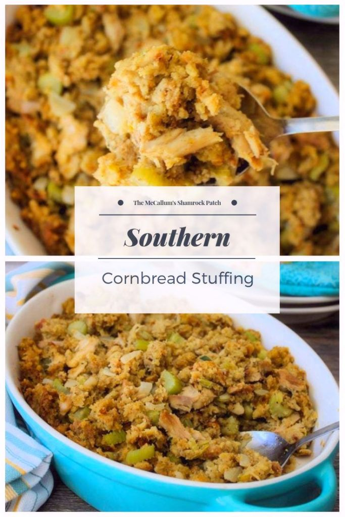 Southern Cornbread Dressing is one of the quintessential dishes to learn how to make for any Southern Belle. Southerners have a deep love for a Traditional Cornbread Dressing. Everyone has their own spin on it but the main ingredients will traditionally always be fairly the same.