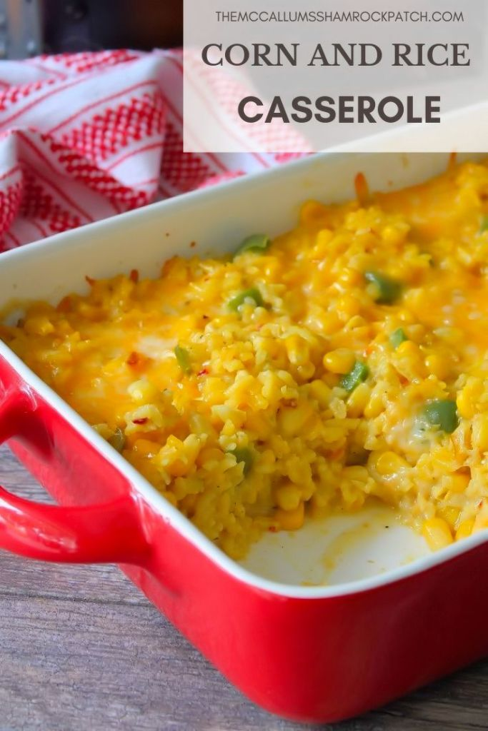 Corn and Rice Casserole is super simple to make, yet packed with an amazing flavor bite after delicious bite. Combining just a few ingredients, such as corn, yellow rice, Colby Jack cheese, Cream of Celery Soup, and jalapeno peppers, you'll be in and out of the kitchen in no time flat.