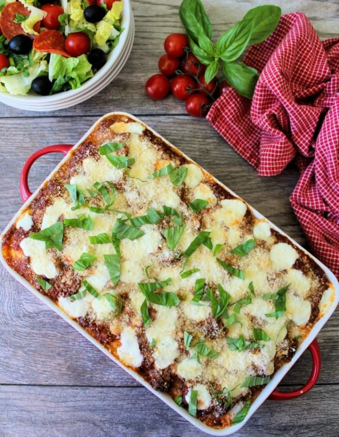 You are going to love this easy to make, deliciously flavorful,cheesy, Baked Ravioli made in less than an hour