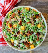 Southern Pea Salad is one of the most simple yet deliciously flavorful salads you'll sink your teeth into this season