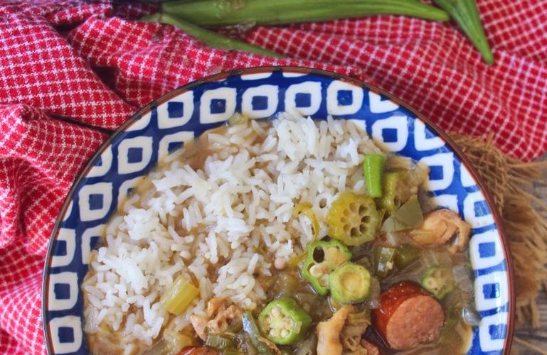 Classic Sausage Chicken and Okra Gumbo