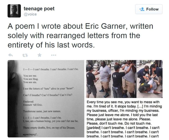 teenage poet