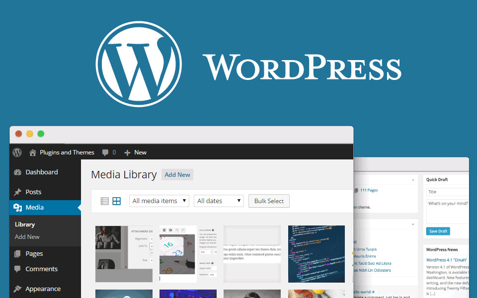 Image result for WordPress MEDIA library  - HD images