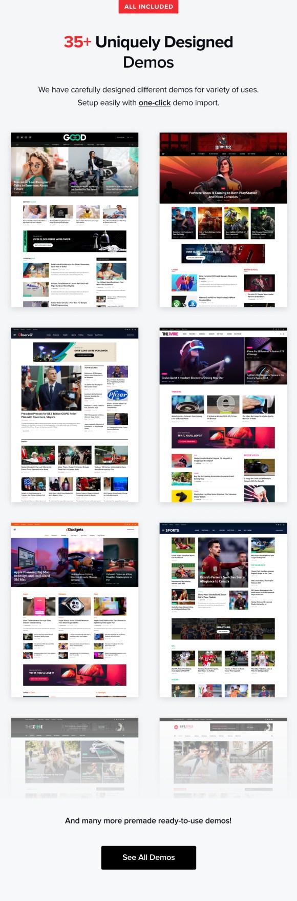 News and Magazine Demos