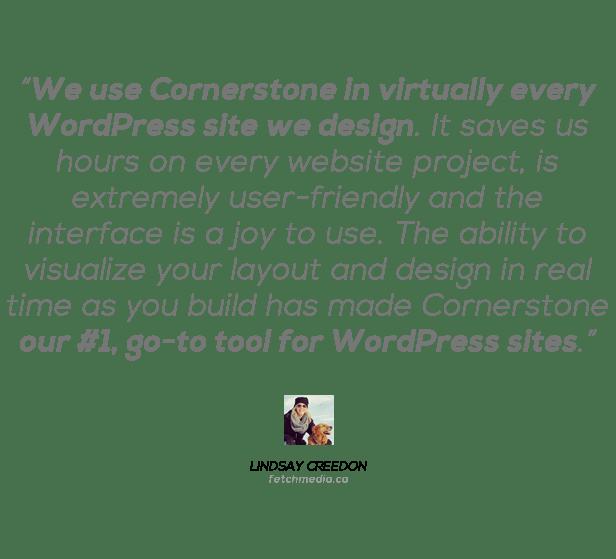 Cornerstone | The WordPress Page Builder 6
