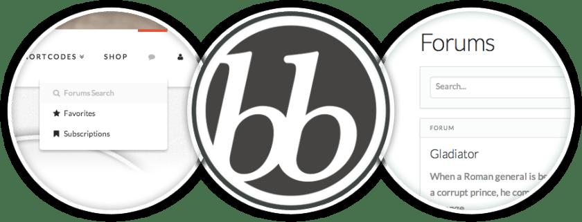 bbPress integration option in X theme