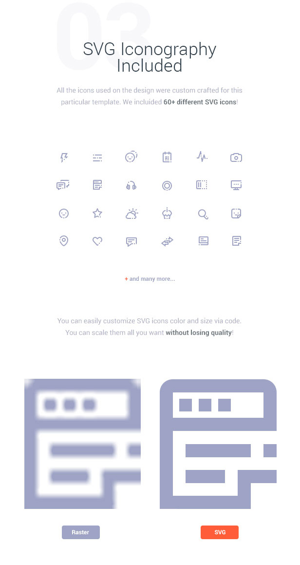 SVG Iconography Included