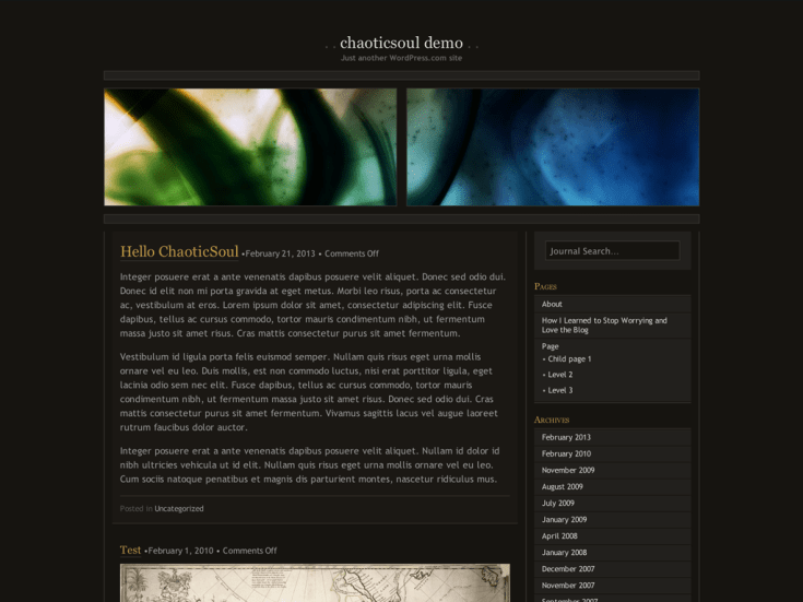 Screenshot of the ChaoticSoul theme