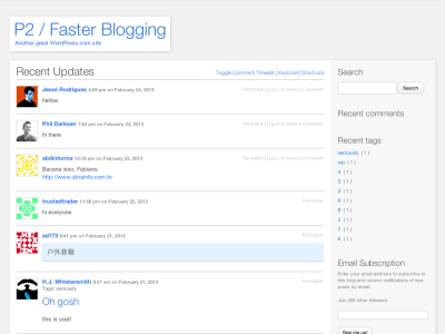 P2 Classic WordPress Theme