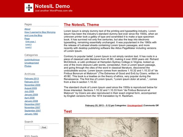Screenshot of the NotesIL theme