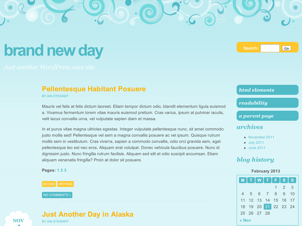Brand New Day WordPress Theme