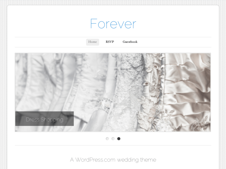 Screenshot of the Forever theme