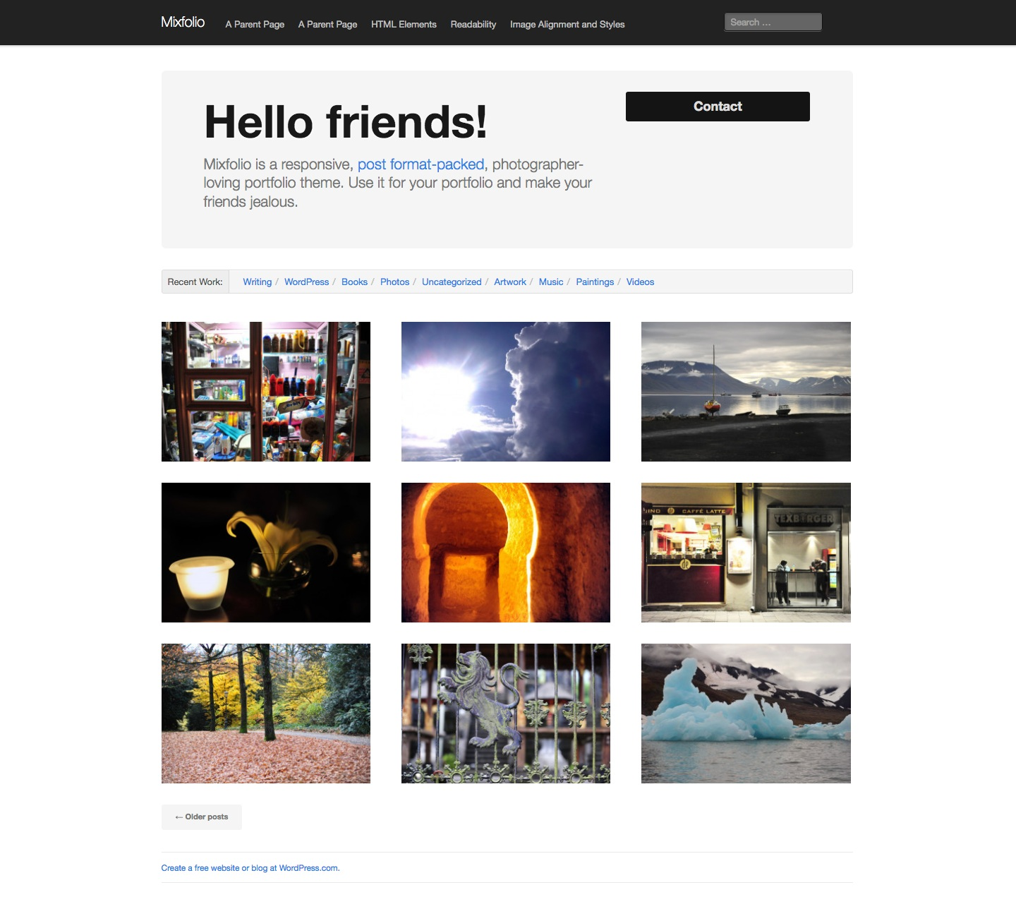 Mixfolio WordPress Theme