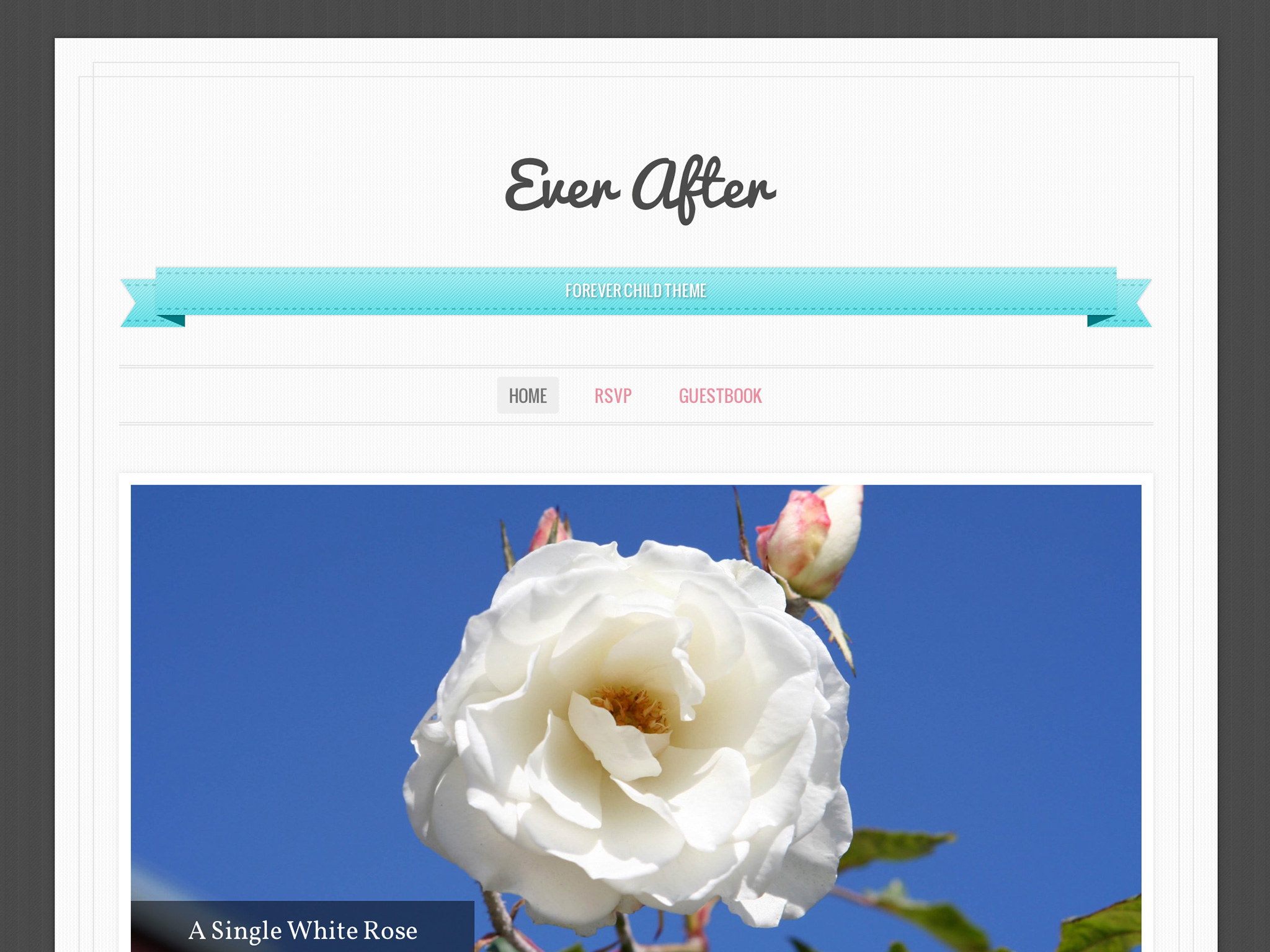 Screenshot of the Ever After theme