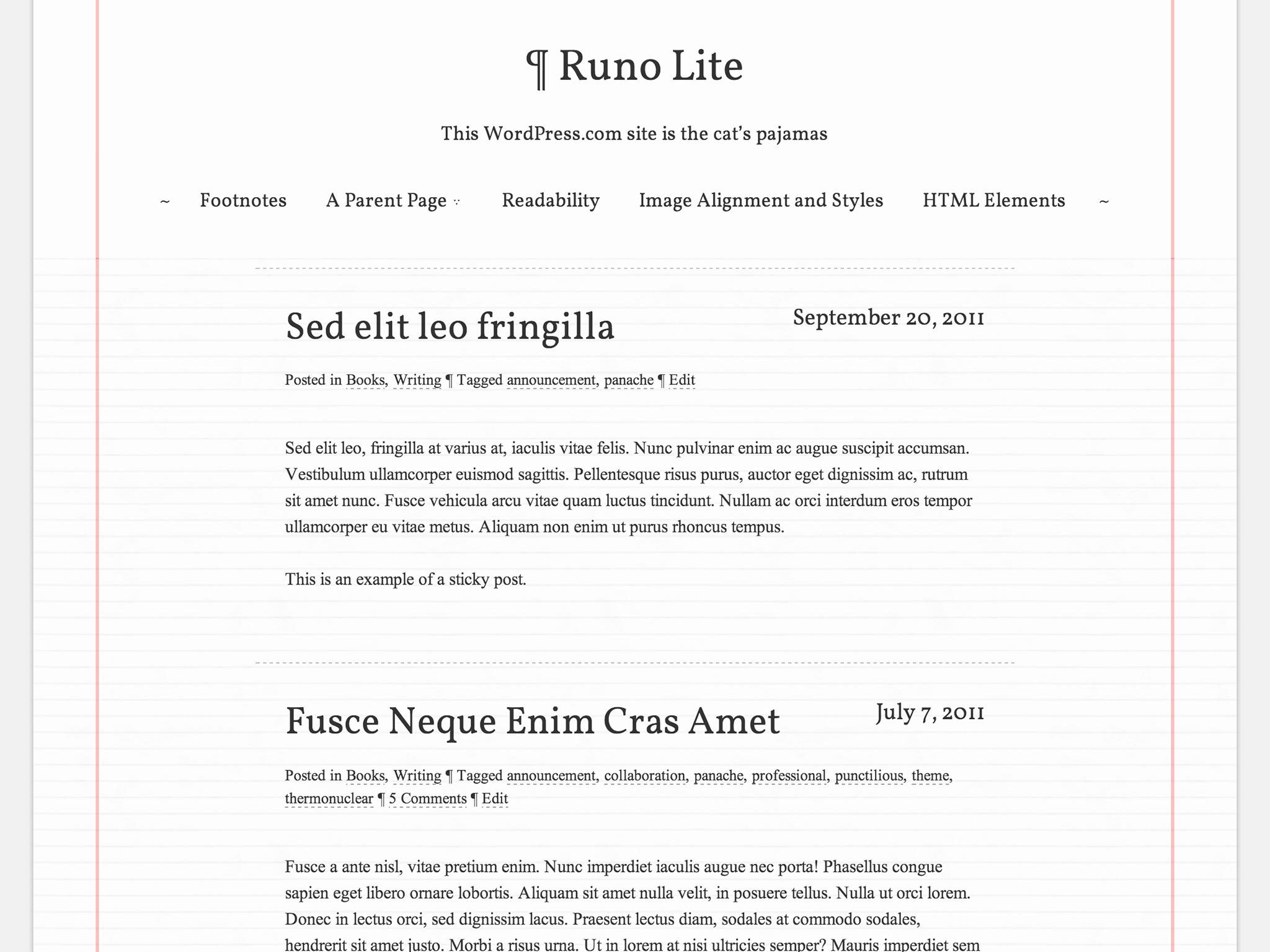 Runo Lite WordPress Theme