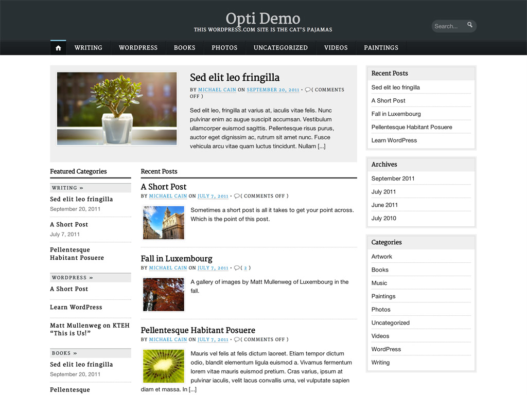 Opti WordPress Theme